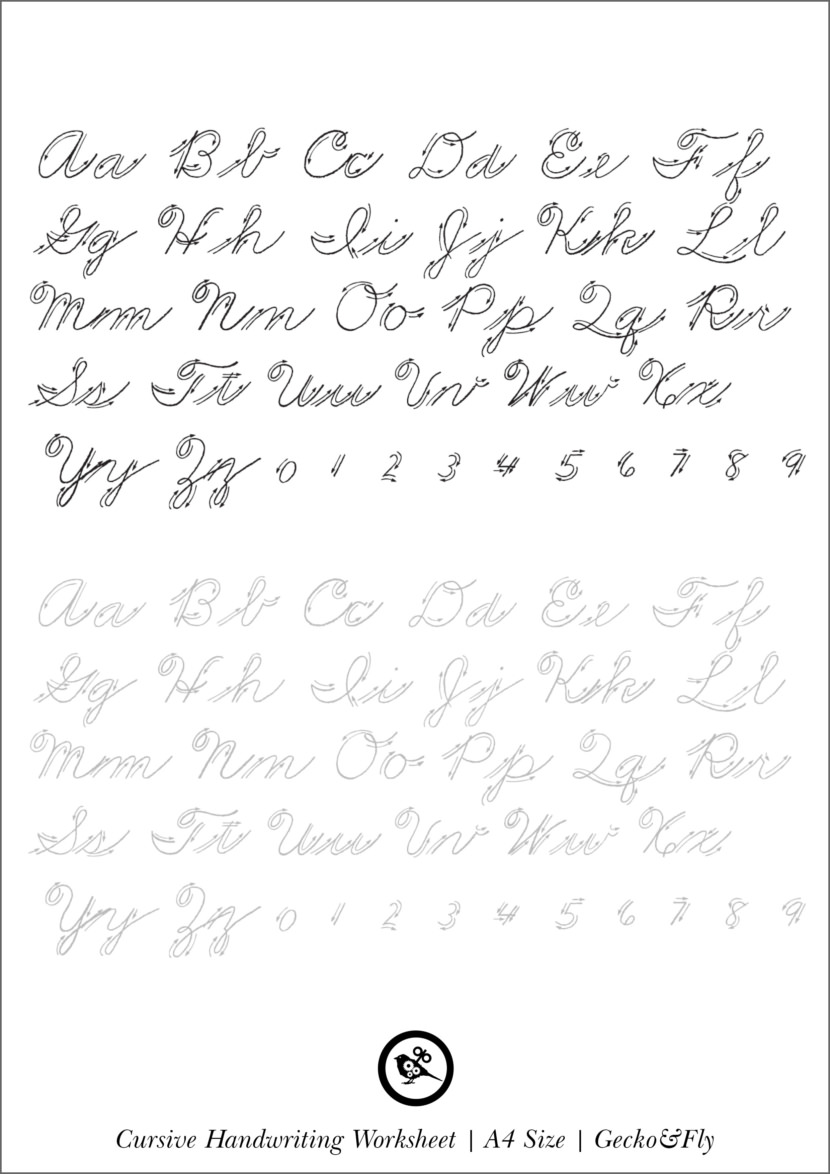 Beautiful Penmanship Handwriting Worksheet Practice Print Printable