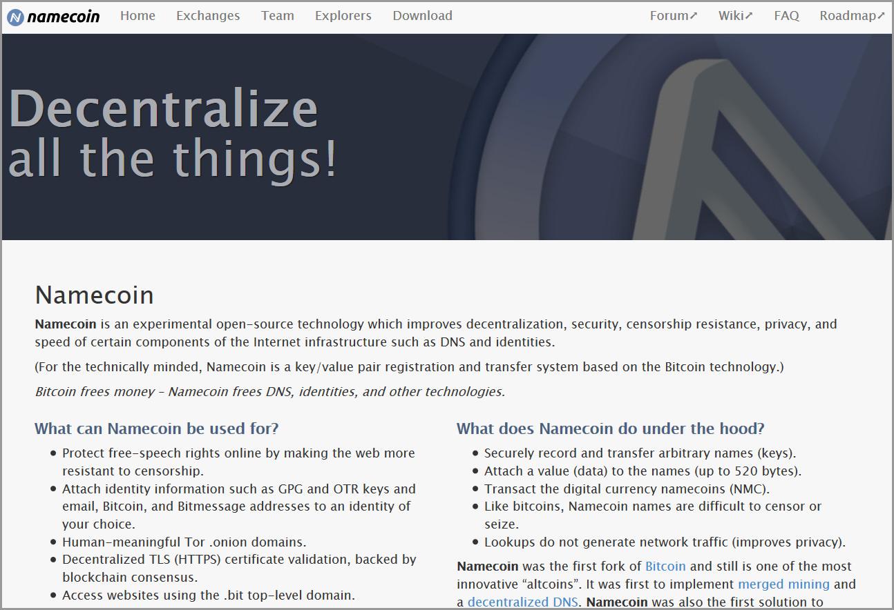10 Bitcoin Alternatives Profitable Cryptocurrencies Mining 06 Namecoin Decentralize Top