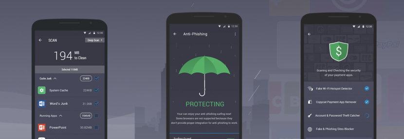 IObit AMC Security Free Android Antivirus - Stop Credit Card Theft And Safe Internet Banking