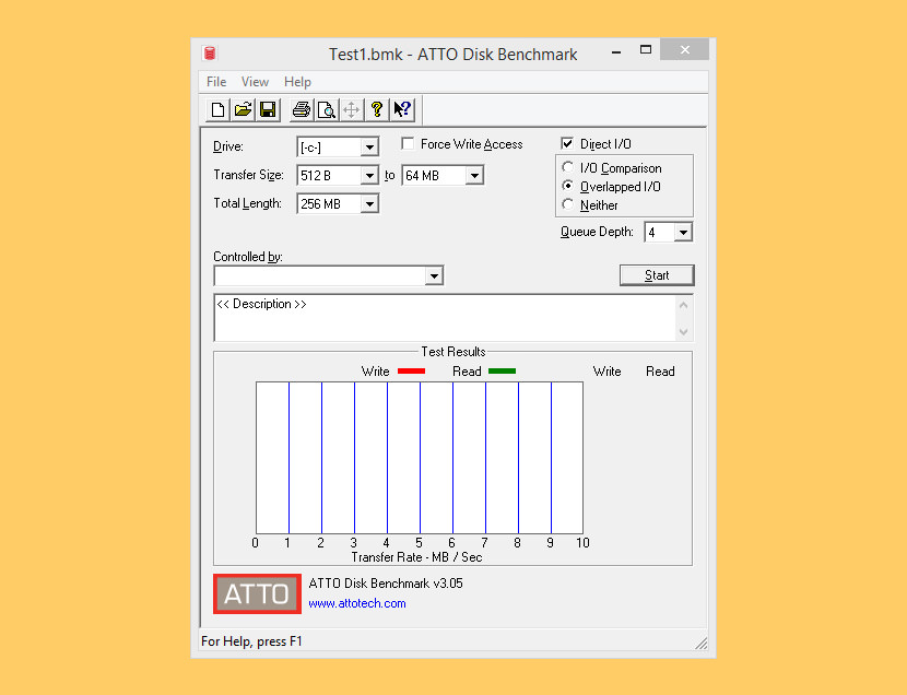 ATTO Disk Benchmark SSD And HDD Effective Read Write Speed