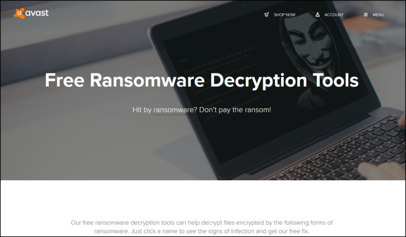 Avast Free Ransomware Decryption Tools