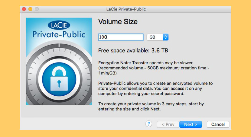 LaCie Private-Public Portable USB Flash Drive Encryption - Unhackable Military 256-Bit Keys