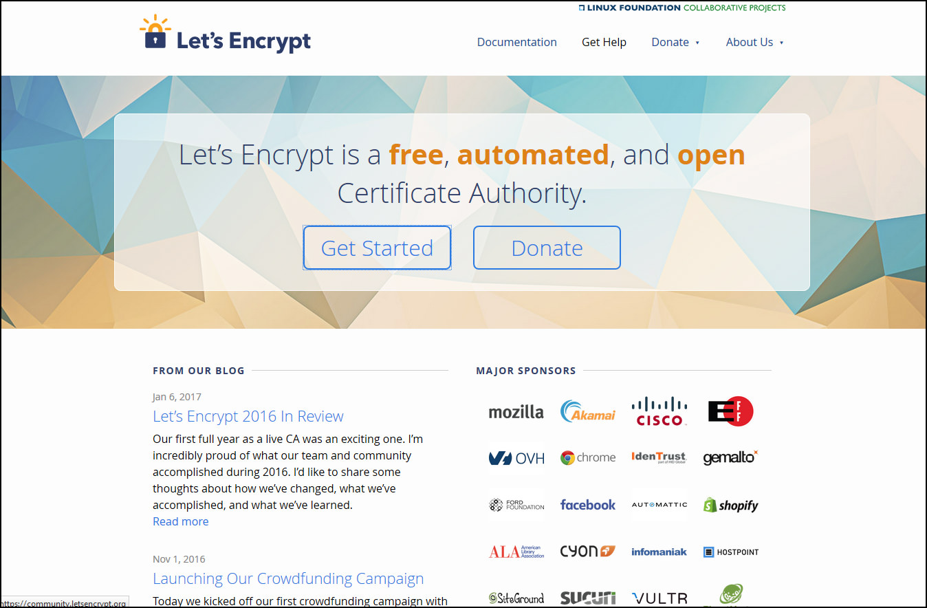 5 free trusted ssl certificate providers affordable 256 bit lets encrypt is a free automated and open certificate authority brought to you by the non profit internet security research group isrg xflitez Choice Image