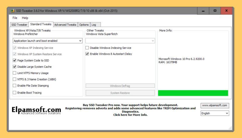 Elpamsoft SSD Tweaker