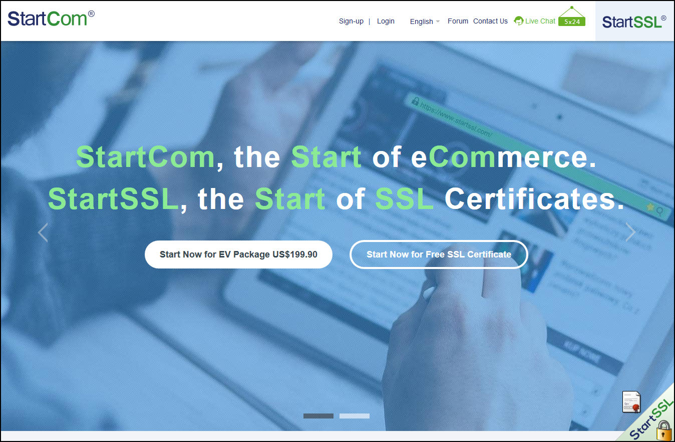 7 Free Trusted SSL Certificate Providers / Sources - 256 bit