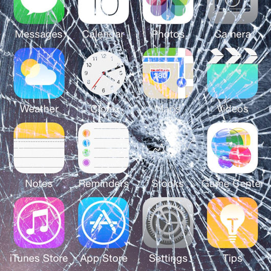Broken Screen Wallpaper: 7 Broken Screen Wallpapers For Apple IPhone