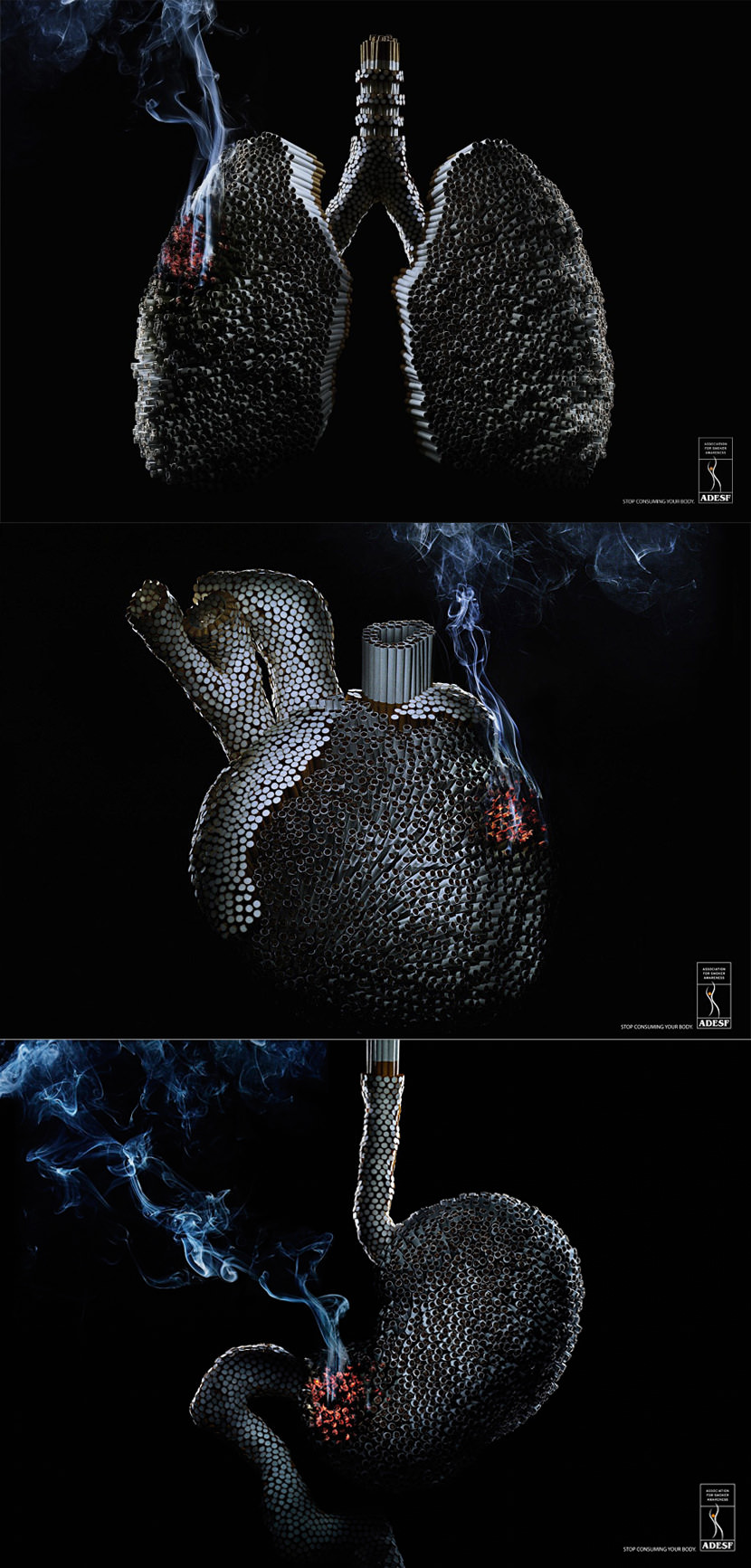 Very Creative 'How To Quit Smoking Cigarettes Ads' and Posters