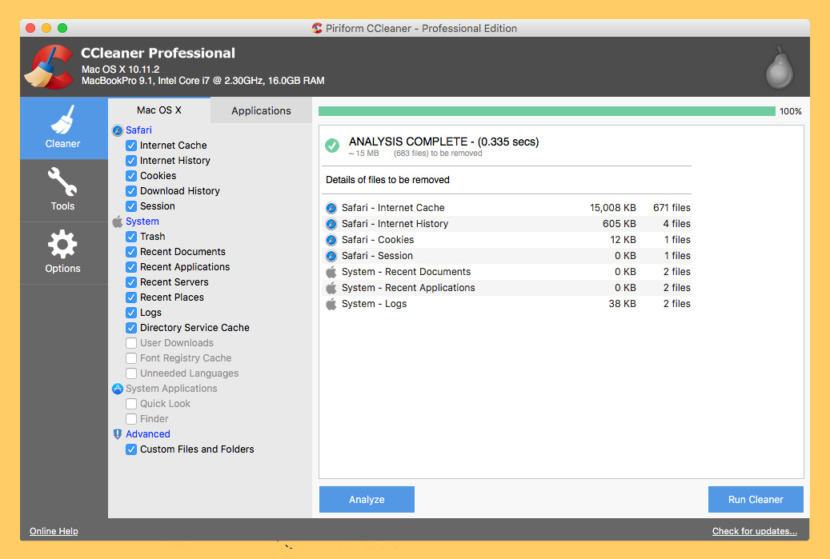 CCleaner for Mac