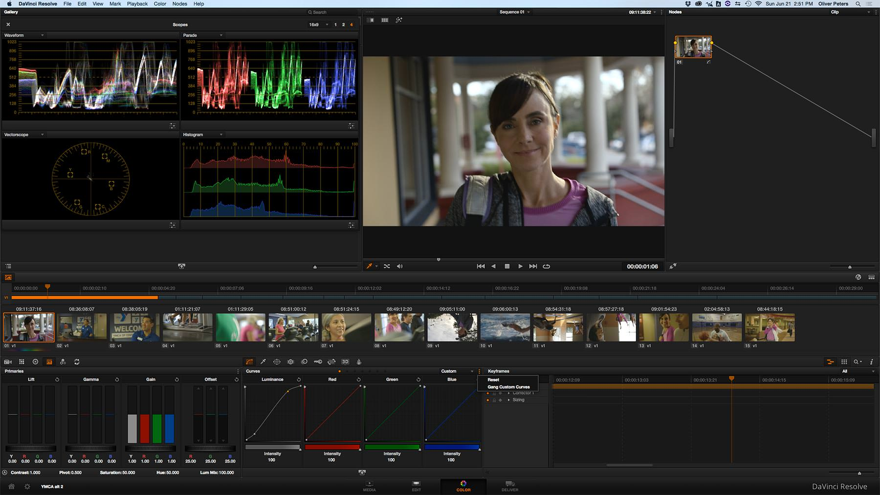 how to edit colour on multiple clips in final cut