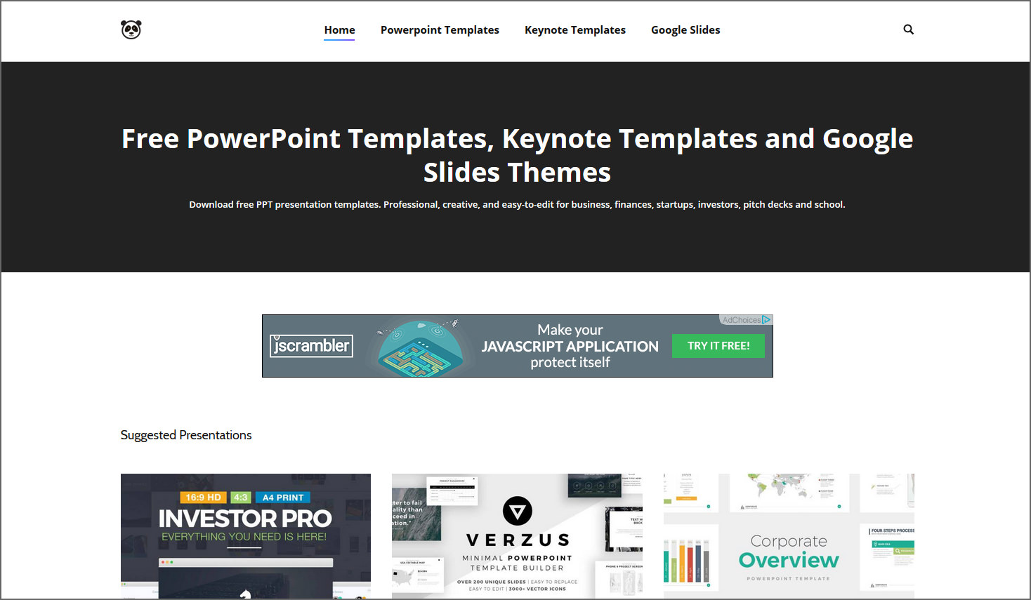 4 Sites With Free Beautiful Powerpoint Templates Keynotes And