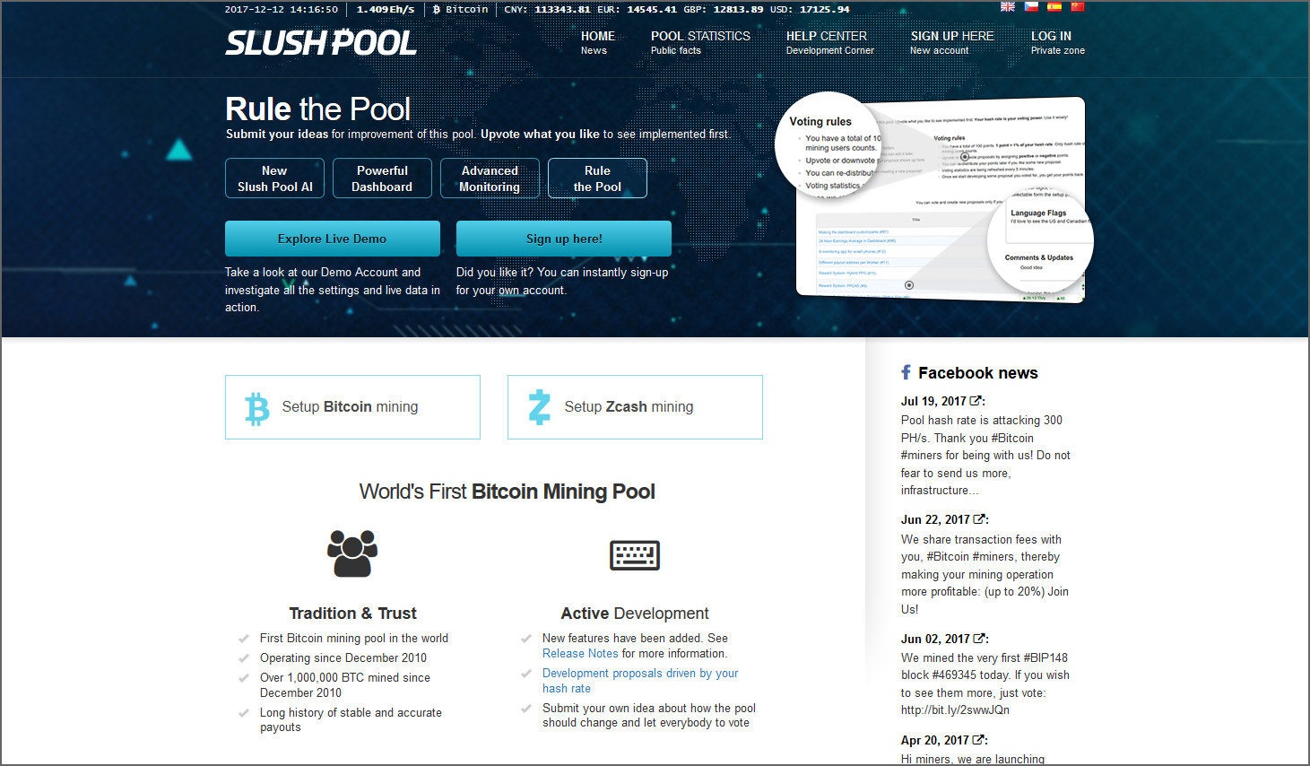 10 biggest bitcoin mining pool with best payout and high success rate slush pool is the first publicly available mining pool first annouced in 2010 under the name bitcoin pooled mining server slush pool allows users to mine ccuart