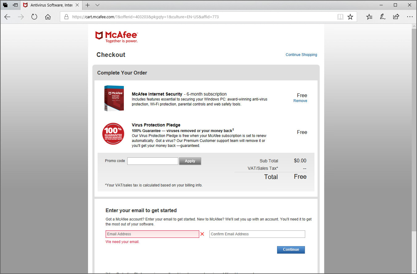 Download 180 Days Genuine McAfee Internet Security 2020 With