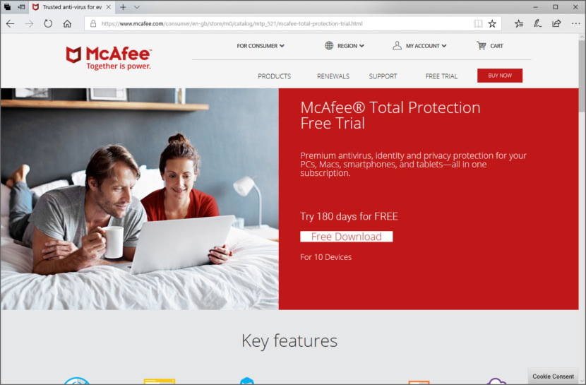 Free McAfee Total Protection 2018