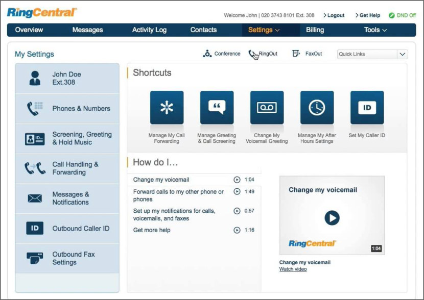 RingCentral Virtual PBX