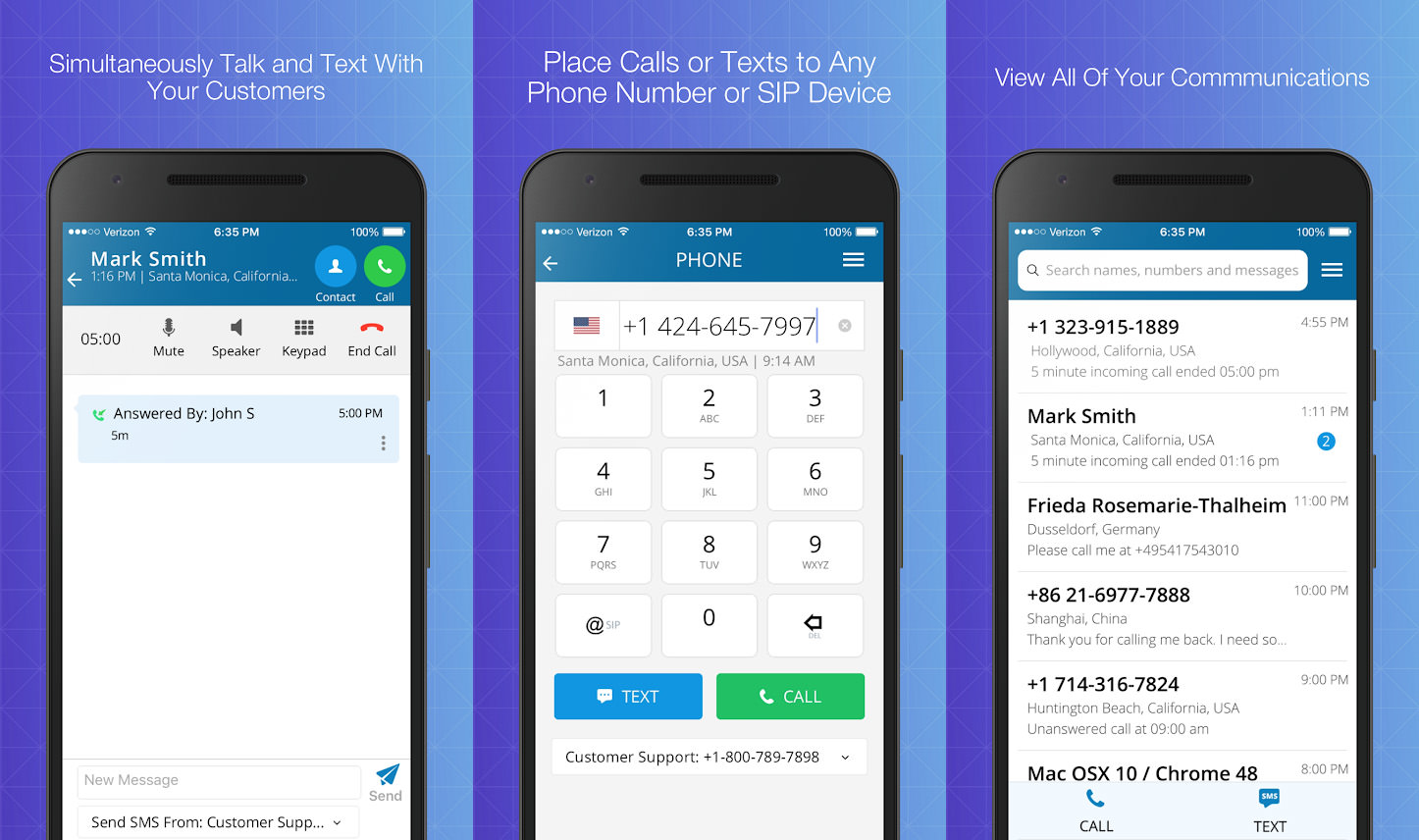 telos free phone number & call apk