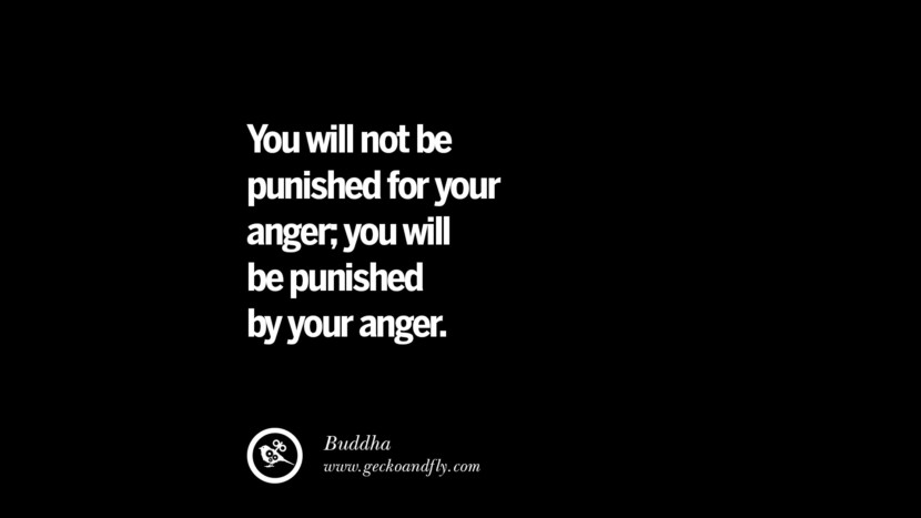 You will not be punished for your anger, you will be punished by your anger. - Buddha Quotes On Anger Management, Controlling Anger, And Relieving Stress