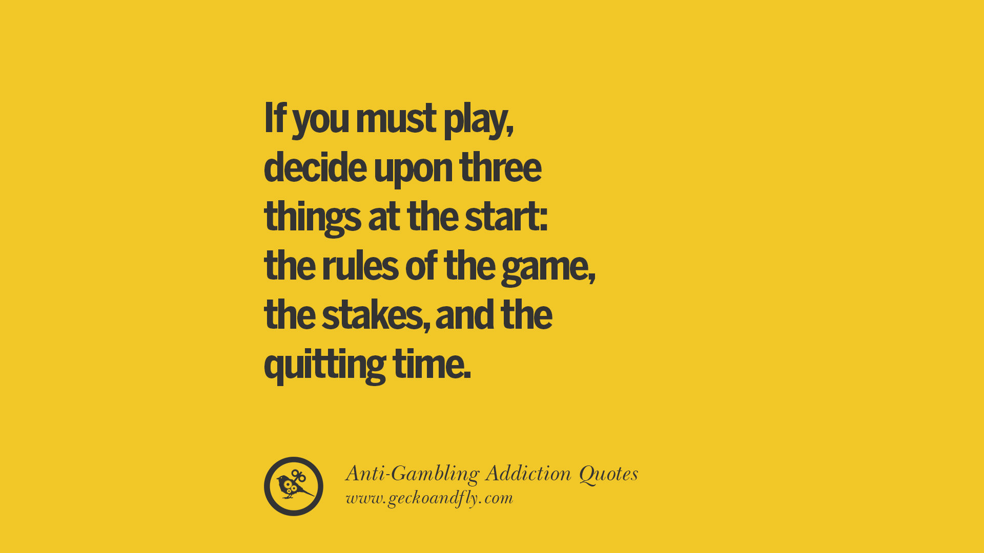 Gambling Problem Quotes