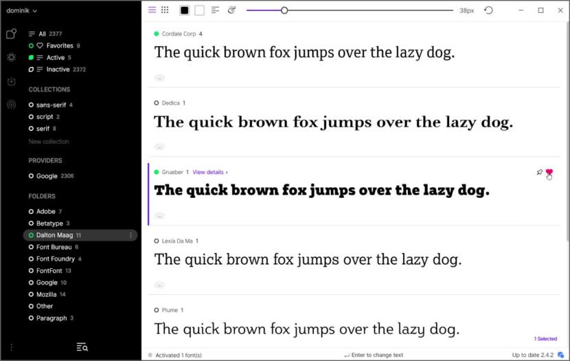 FontBase Free Font management
