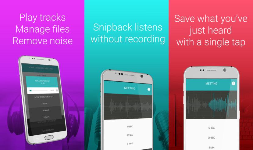 SnipBack Smart Voice Recorder