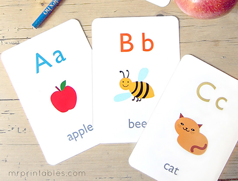 Mr Printable Alphabet Flash Cards