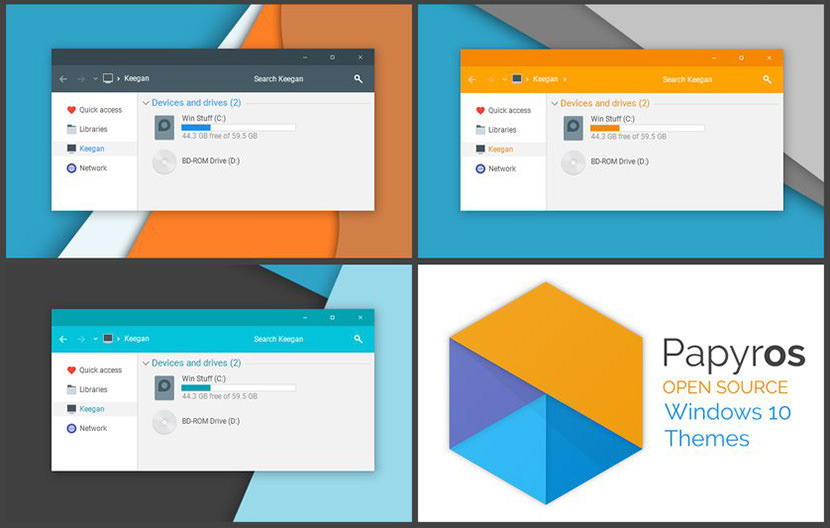Papyros Windows 10 Theme