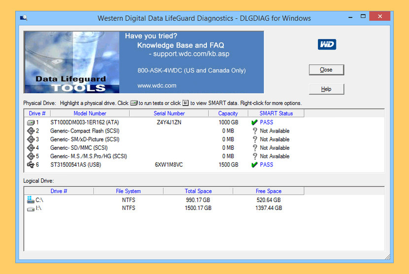 Data Lifeguard Diagnostic by WD