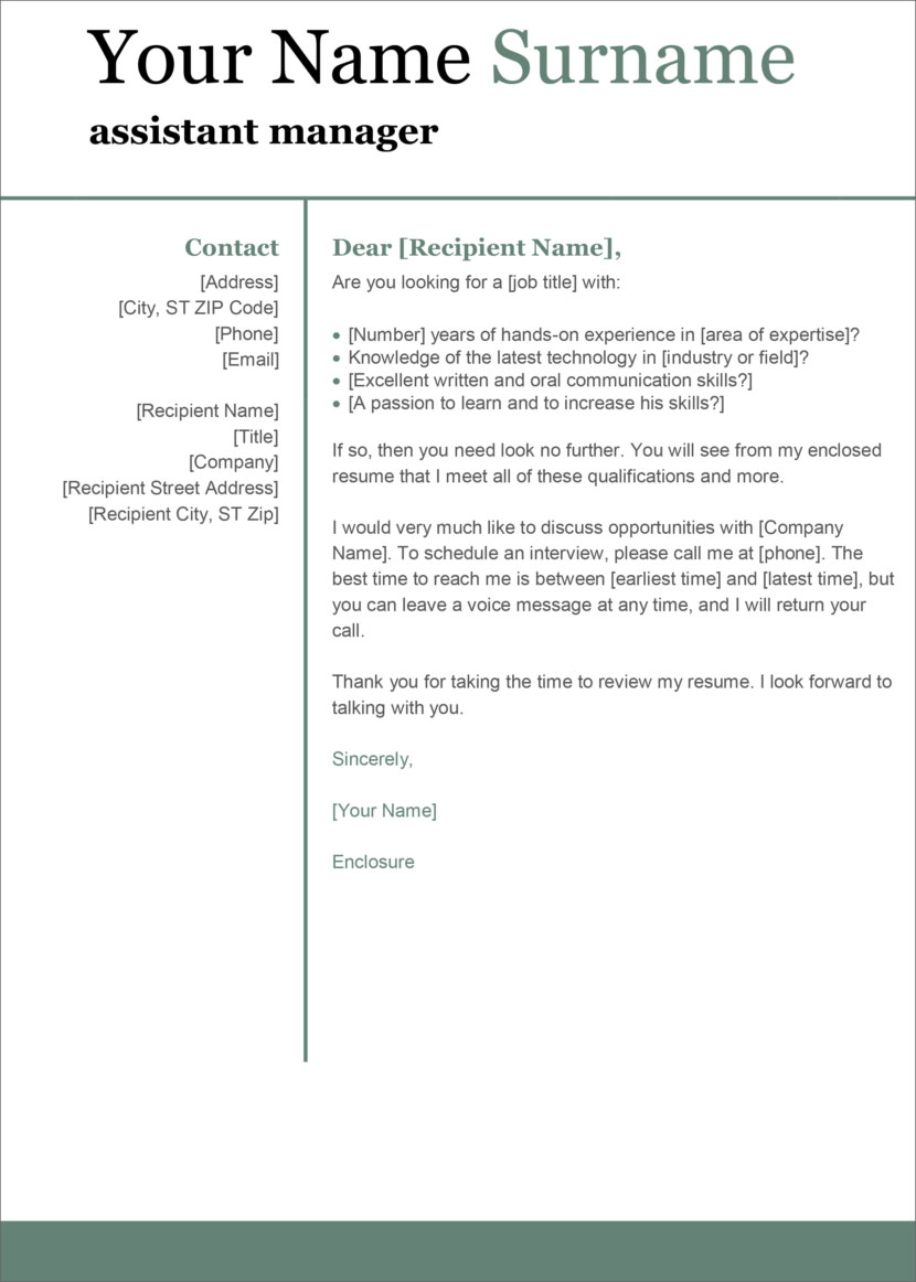 13 Free Cover Letter Templates For Microsoft Word Docx And Google Docs