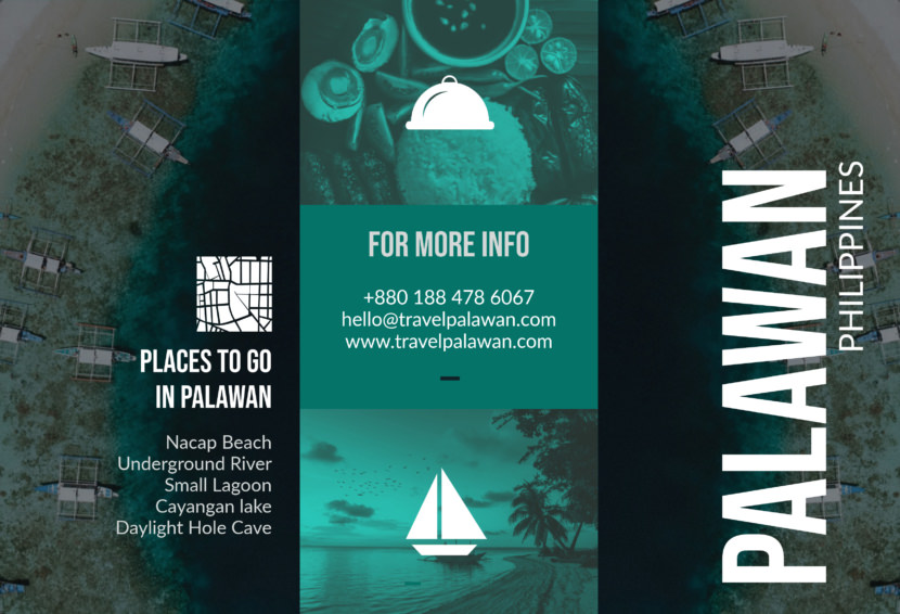 philipines travel holiday Free Editable Professional Brochure Templates