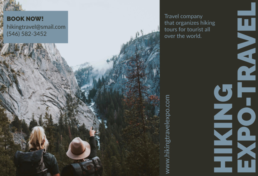 adventure outdoor mountain climbing hiking Free Editable Professional Brochure Templates