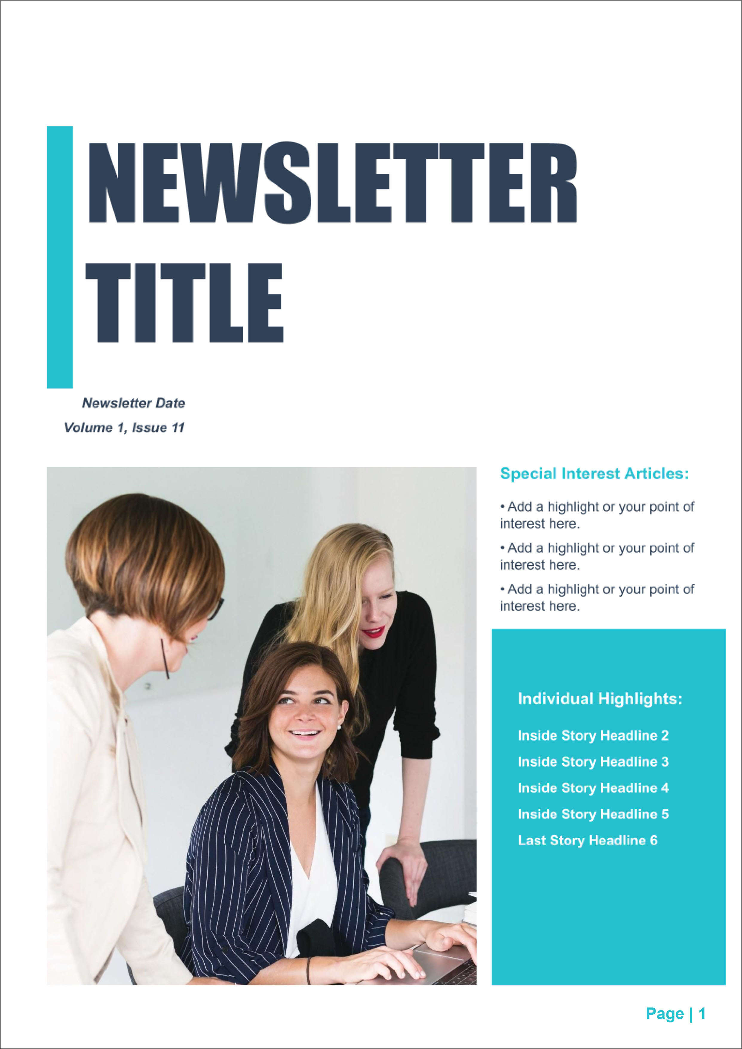 32 Free Printable A4 Newsletter Templates For School And Community Noticeboard