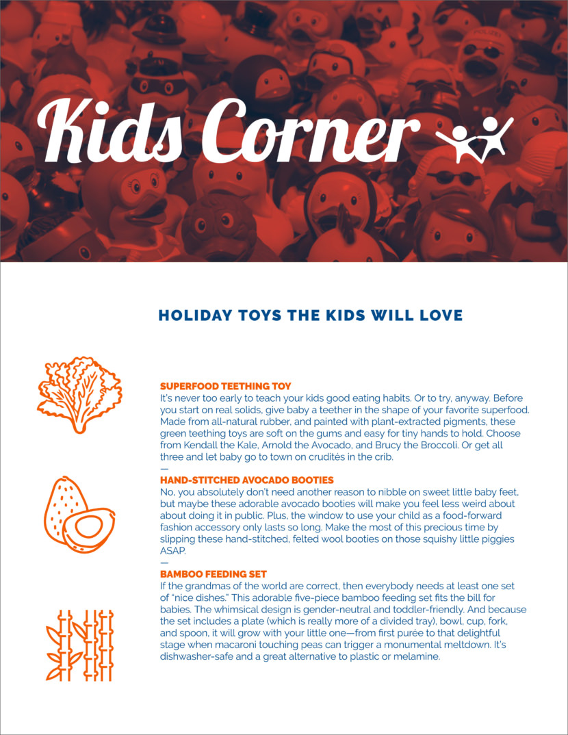 food kids Screenshot of free printable newsletter template for school and communities
