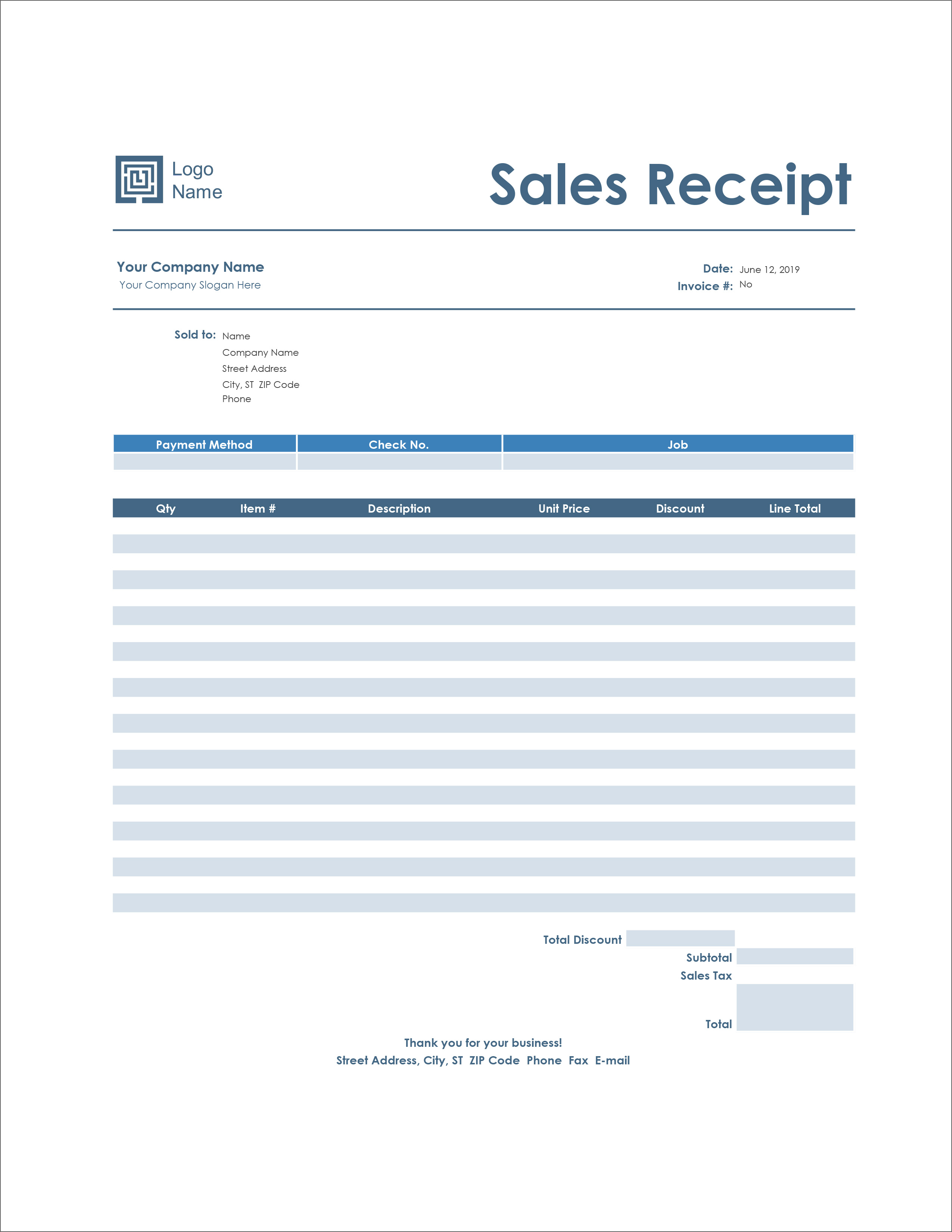 16 Free Receipt Templates - Download For Microsoft Word ...