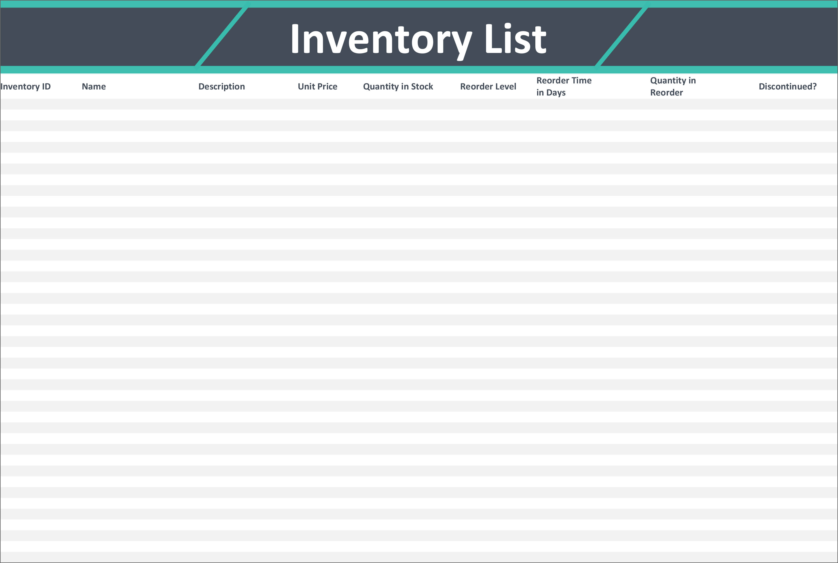 13 Free Stock Inventory And Checklist Templates For Sme Businesses