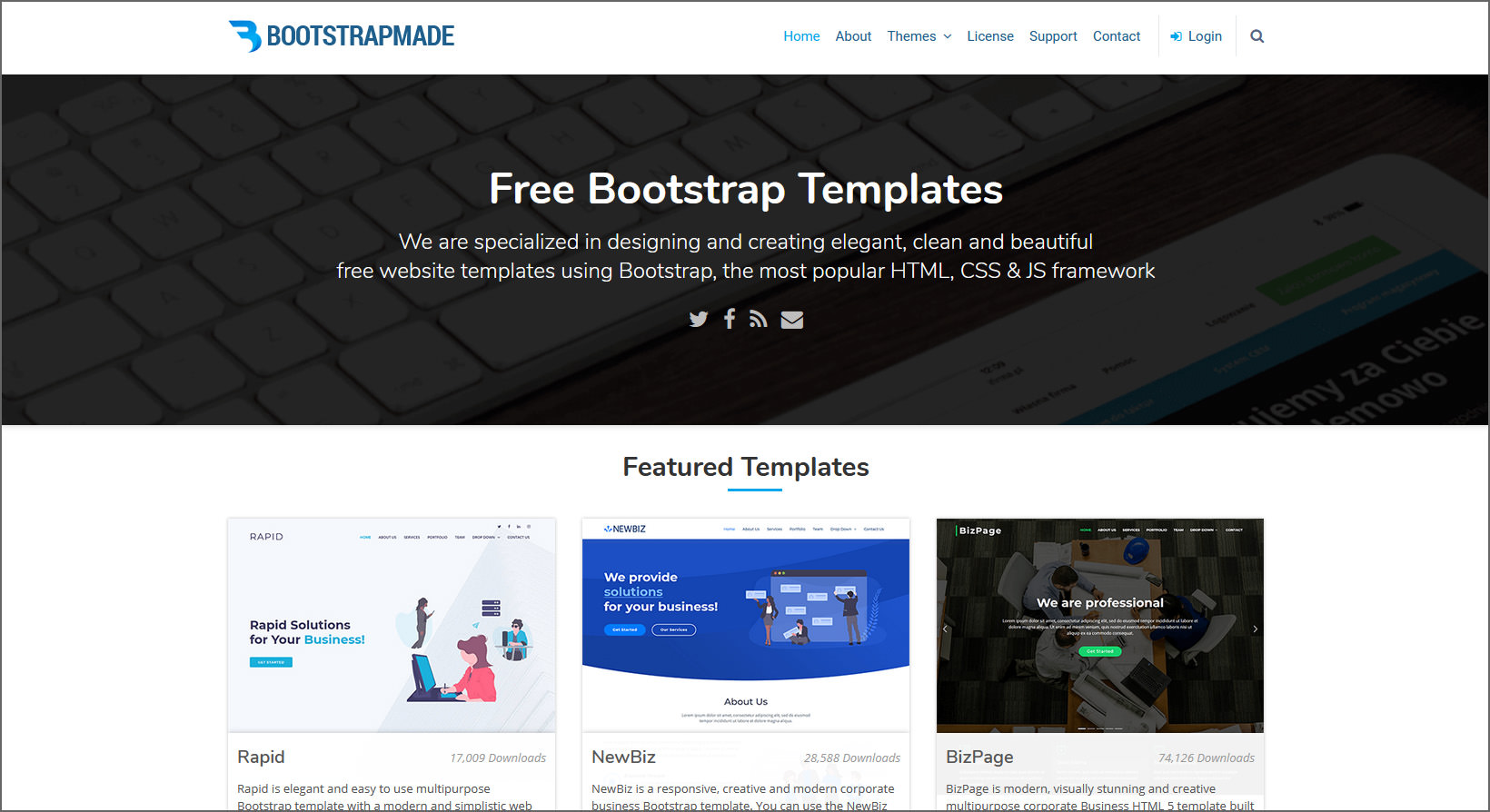 1000 Free Professional Html5 Templates To Create A Business Websites