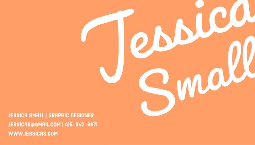 Screenshot of blank Graphic Designer Business Card Template