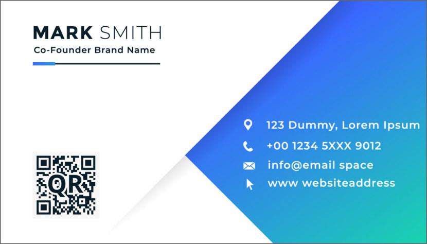 Screenshot of blank Modern Business Card Template