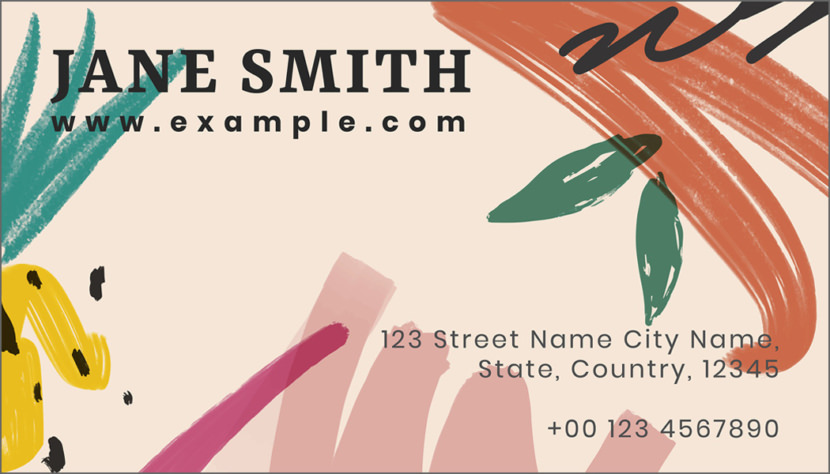 Screenshot of blank Summer Business Card Template