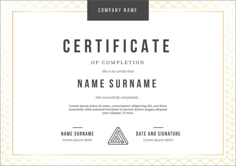 Minimalist Blank Certificate Templates