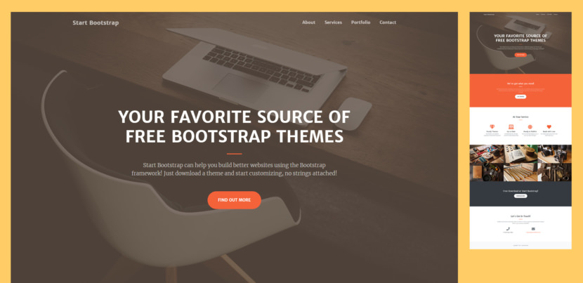 Creative is a one page Bootstrap theme for creatives, small businesses, and other multipurpose use. A modern, flat design style works in unison with rich features and plugins making this theme a great boilerplate for your next Bootstrap based project!