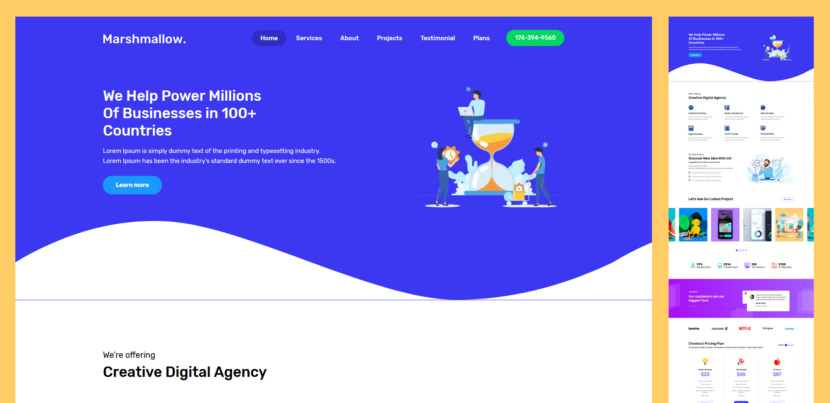 Marshmallow is a one-page landing page designed for one job alone… impress you! Featuring an attractive clean design, Marshmallow is ideal one page website for promoting your new start-up. Wotcha waiting for? Download for free and go crazy!