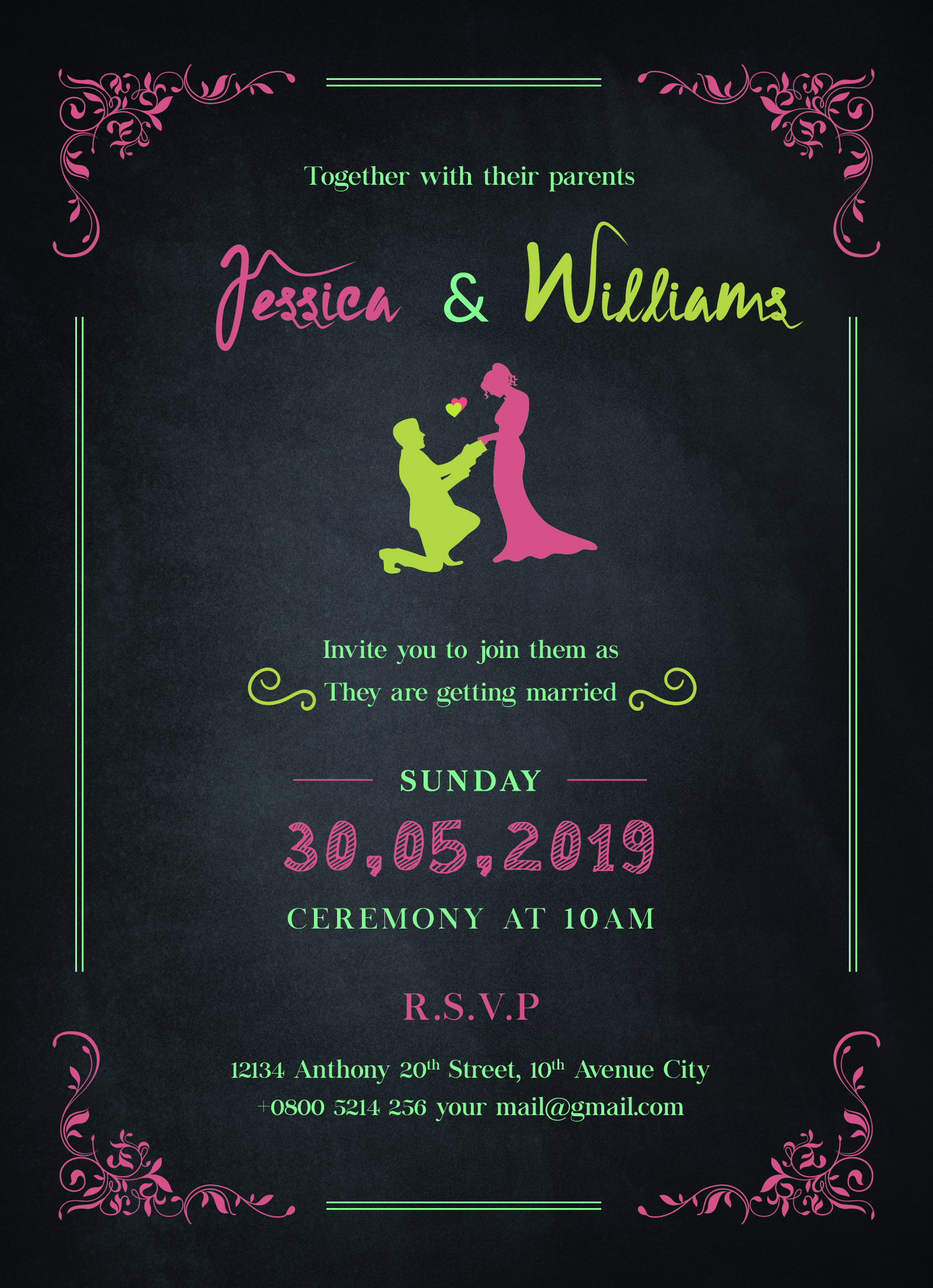 30 Free Wedding Invitation Template Cards Printable And Editable Psd